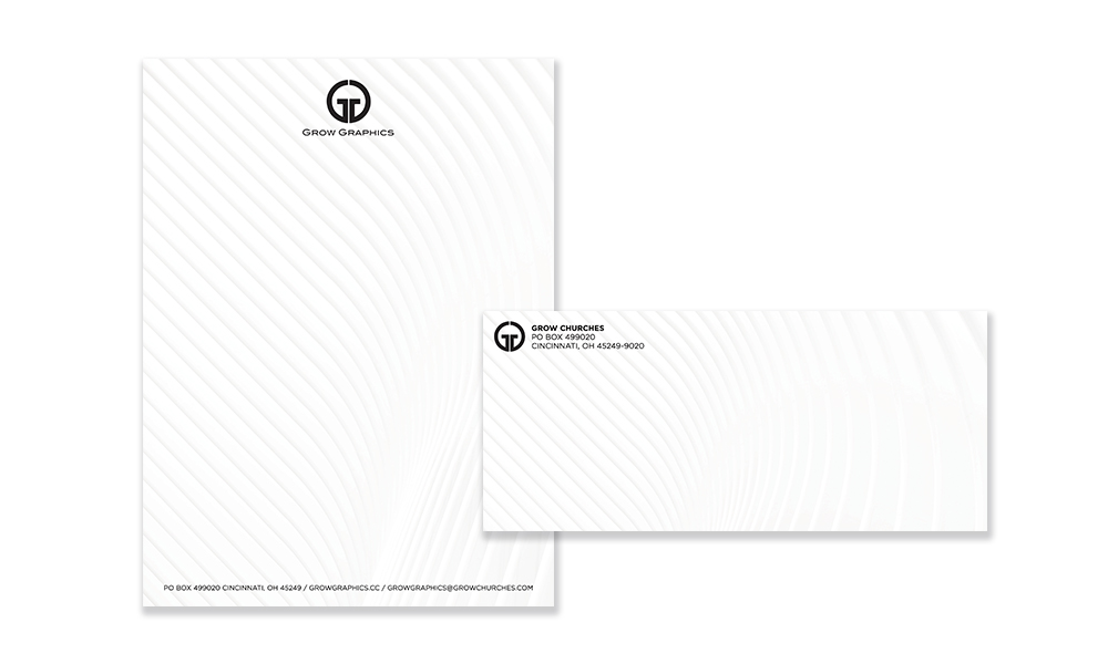 Letterhead and Envelopes Grow Graphics